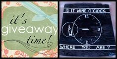 """Saturday the 19th of July. If you haven't entered. Do it now. Hey Art Fans! It's Giveaway Time! WInner will be chosen Saturday, July 19th, 2014. Giveaway is """"Wine O'Clock"""" plaque. *RULES* """"Just SHARE on your Timeline & COMMENT on this post that you did to be entered! You MUST LIKE this page / Artsy Me by L Marie to be eligible & make sure on *post shared* that share setting is set to PUBLIC so that I can see that you participated"""". Good Luck! :) https://www.facebook.com/Artsy.Me.by.L.Marie"""