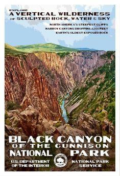 Black Canyon of the Gunnison National Park, Colorado, by Robert B. Decker