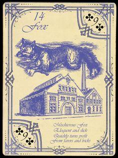 14 Fox; The Widow Norton Lenormand Deck, by Chas Bogan 2012