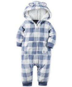 Carter's Baby Boys Hooded Plaid Jumpsuit: Keep your little guy extra cozy and warm in this hooded plaid jumpsuit from Carter's. Little Boy Fashion, Baby Boy Fashion, Cute Baby Boy, Baby Kids, Baby Baby, Baby Boy Outfits, Kids Outfits, Carters Baby Boys, Infant Boys