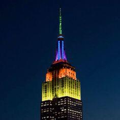 Empire State Building celebrating Saturday Night Live.