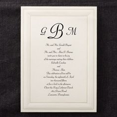Intricate Panel Ecru Invitation - Wedding Invitations - Wedding Invites - Wedding Invitation Ideas - View a Proof Online - #weddings #wedding #invitations