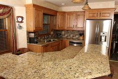 Gallery Images Island With Breakfast Nook Bedrock Granite Countertops Tiling Backsplash
