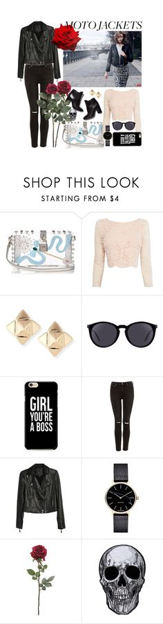"""""""Look of the day: Motor Jacket"""" by cstarzforhome ❤ liked on Polyvore featuring Dolce&Gabbana, H&M, Coast, Valentino, Yves Saint Laurent, Pierre Hardy, Paige Denim and Myku"""