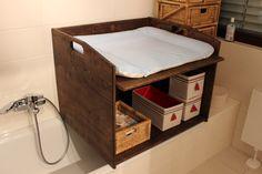 Wickelauflage Wickeltisch Badewanne Holz