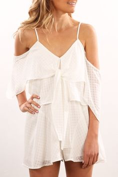 Anytime Anywhere Playsuit Ivory