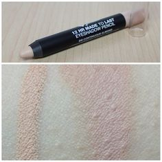 This Jordana eyeshadow pencil is a great dupe for the MAC Paint Pots in Painterly and Soft Ochre.. and it's only a 1/5 of the price! The swatch on the left is Jordana and the right is MAC Painterly