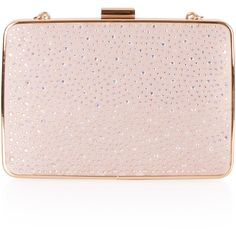 Monsoon Amirah Heat Seal Clutch Bag ($79) ❤ liked on Polyvore featuring bags, handbags, clutches, pink handbags, pink clutches, clasp purse, box clutch and chain handbags