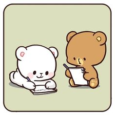Cute Love Gif, Cute Love Pictures, Cute Cartoon Pictures, Cute Bear Drawings, Kawaii Drawings, Cute Couple Cartoon, Cute Love Cartoons, Love Bear, Cute Bears