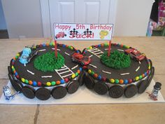 Sweet and Spicy Bacon Wrapped Chicken Tenders Race Car Birthday Cake Designs Hot Wheels Birthday, Race Car Birthday, Cars Birthday Parties, Cake Birthday, Hotwheels Birthday Cake, 5th Birthday, Birthday Ideas, Race Track Cake, Race Car Cakes