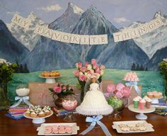 sound of music desserts Birthday Week, Baby Girl Birthday, 11th Birthday, Music Centerpieces, Music Party Decorations, Music Baby Showers, Sand Dollar Wedding, Favorite Things Party, Music Themed Parties