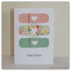 Get Well Greeting Card - Feel better bandaids