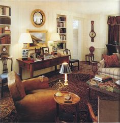 sitting room & cozy library