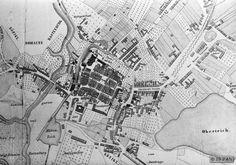 Rastenburg, Stadt, Historischer Stadtplan, Ausschnitt (Druck)