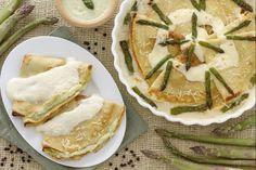 Le crepes agli asparagi, sono un primo piatto che potete preparare con largo anticipo siaper le occasioni speciali, sia per una cena tra amici.