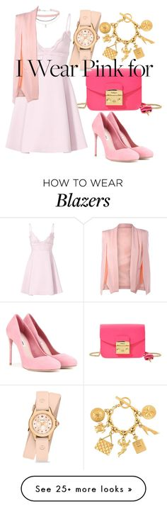 """""""i wear pink for"""" by delin-aldelin on Polyvore featuring Furla, Michele, Humble Chic, Giambattista Valli, Miu Miu, Miss Selfridge, Chanel and IWearPinkFor"""