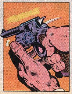 Gun - Art by Bret Anderson & Josef Rubinstein (1981).