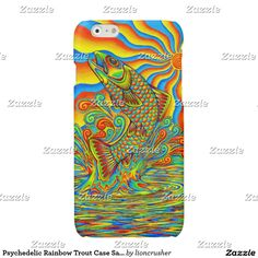 Psychedelic Rainbow Trout Case Savvy iPhone Case