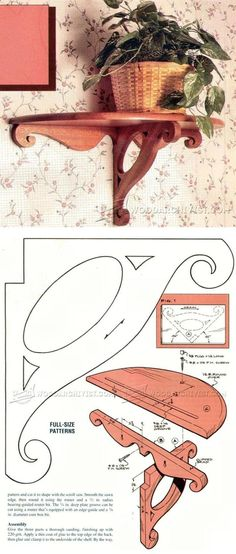Victorian-Style Wall Shelf Plans - Woodworking Plans and Projects | WoodArchivist.com