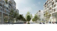 Condomini, Edifici residenziali, edifici sostenibili, architettura contemporanea, Yiwu