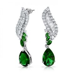 Bling Jewelry Pear Emerald Color CZ Chandelier Cluster Earrings Art Deco Style Wave like this in blue Art Deco Earrings, Chandelier Earrings, Drop Earrings, Cluster Earrings, Emerald Green Earrings, Emerald Color, Bling Jewelry, Vintage Jewelry, Vintage Art