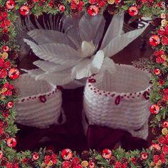 Cestini natalizi uncinetto