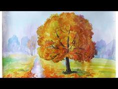 Уроки рисования. Как нарисовать ЗОЛОТУЮ ОСЕНЬ акварелью How to draw an autumn — Яндекс.Видео
