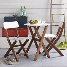 Balcony Bistro Dining Collection - White #westelm, love this sorta #retro