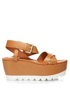 c951068aa97 Crossover front flatform sandals