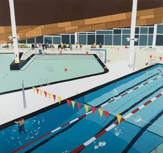 Artist Scott Sueme's paintings capture the places we play sport in a new light.
