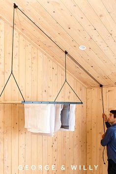 Hanging Drying Rack, Laundry Room Inspiration, Laundry Room Design, Home Organization, Clothing Organization, Bedroom Decor, New Homes, House Design, Design Design