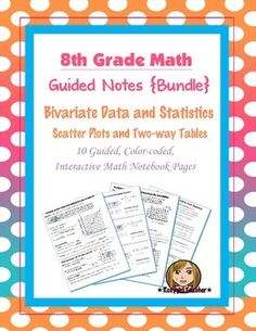 This is bundle of guided, color-coded notebook pages for the interactive math notebook on Square Roots, Cube Roots, Exponent Properties, Real Numbers and Scientific Notation. Math 8, Fun Math, Teaching Math, Line Of Best Fit, Radical Expressions, Real Numbers, Guided Practice, Math Notebooks, Interactive Notebooks