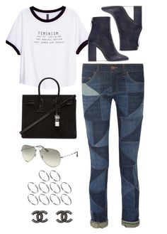 """Untitled #8402"" by katgorostiza ❤ liked on Polyvore featuring H&M, Étoile Isabel Marant, Zara, Yves Saint Laurent, Ray-Ban, ASOS and Chanel"