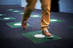 "A New Twist on Floor Tiles Gives ""Power Walking"" New Meaning #impactdesign"