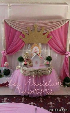 Ideas For Birthday Party Girl Activities Baby Shower Princess Birthday Party Decorations, Princess Theme Birthday, Girl Birthday Themes, Princess Party, Birthday Parties, Baby Party, Baby Shower Parties, Shower Party, Baby Decor