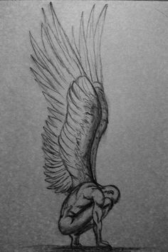 Angel sketch: not my drawing don't know who did it but it's wonderful! Angel Sketch, Angel Drawing, Angle Wings Drawing, Wings Sketch, Bird Sketch, Drawing Sketches, Cool Drawings, Broken Drawings, Drawing Poses