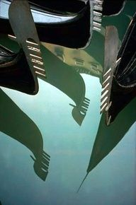 Gondola Reflection, Venice, 1955  Ernst Haas Photographer