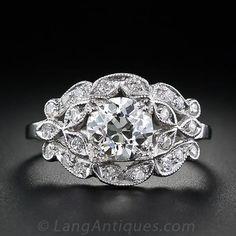 1.10 Carat Edwardian  Diamond Engagement Ring