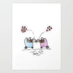 Twins french bulldog art by BoubouleArt - $20