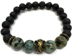 Lava Rock Bracelet Kit - Elephant-Kits are perfect for gifts and beginners! Simply thread on the beads in the order that you like, knot it to secure it and that's it. Each time you wear it, just simply roll it over your wrist. Jewelry Making Kits, Jewelry Kits, Make Your Own Jewelry, Diy Jewelry, Marion Smith, Essential Oil Jewelry, Beaded Necklace, Beaded Bracelets, Lava