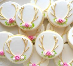 Deer Antler Cookies by TwoCrazyCookies on Etsy https://www.etsy.com/listing/268524594/deer-antler-cookies