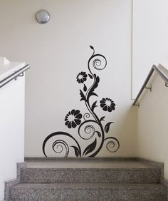 Vinyl Wall Decal Sticker Flower Vine Curls #1119 | Stickerbrand wall art decals, wall graphics and wall murals.