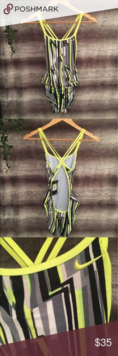 NIKE one piece swim suit Brand new with tags! Perfect for work outs, camping, beach, etc! Super cute print. size 4 Nike Swim One Pieces