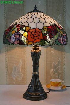 Rose Tiffany Lamp 16S0-24T284
