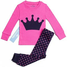 Elowel Little Girls Ladybug 2 Piece Pajama Set 100/% Cotton 6M-8 Years