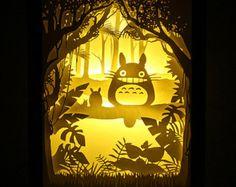 Lightbox Alice en papel wonderland corte caja de luz por trysogodar