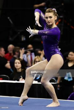 Washingtons Alexandra Yacalis prepares to start her floor routine during the NCAA Gymnastics Women's National Championship Semifinal 1 on April 14, 2017, at Chaifetz Arena in St. Louis, MO.