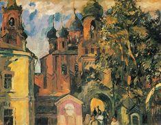 Kremlin -Tula (Кремль -Тула. 1931) Aristarkh Vasílievich Lentulov (Аристарх Васильевич Лентулов. Unión Soviética. Rusia, 1882-1943)