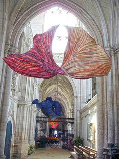Paper Sculptures in the Church of Saint Riquier, France by Peter Gentenaar via Faith is Torment | Art and Design Blog