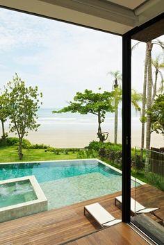 Waterfront pool